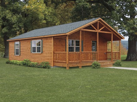 Small log cabin home house plans small log cabins with for Basic log cabin plans