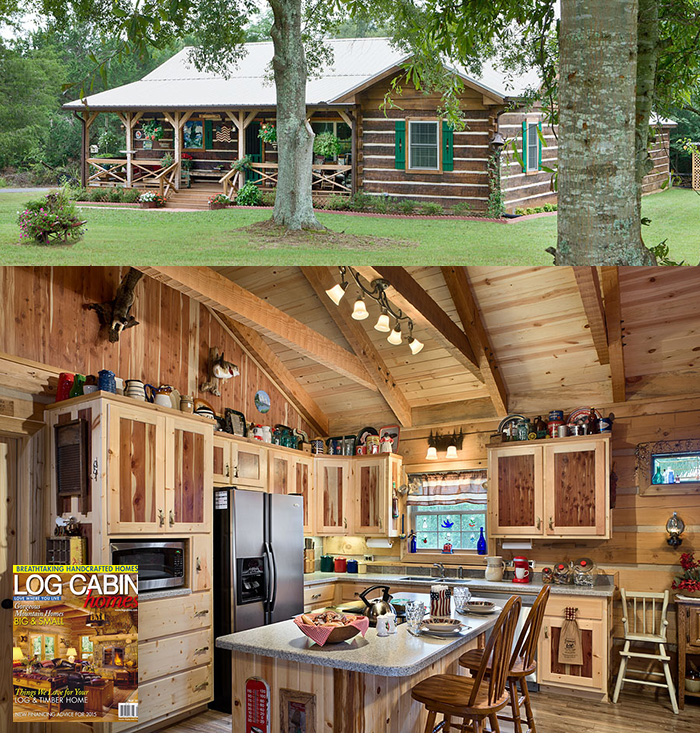 Log cabin homes magazine log home living magazine log for Home living magazines