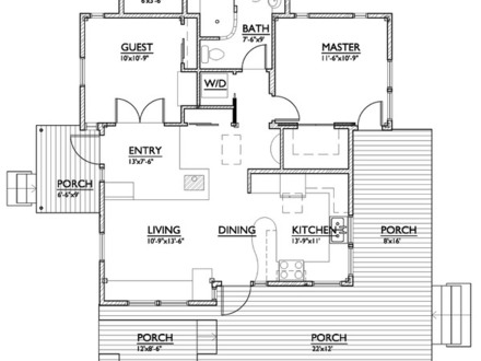Small cottage house plans small house plans under 800 sq for Small house plans under 800 sq ft