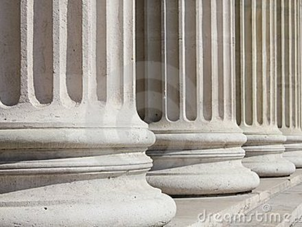 Classical Columns Neoclassical Columns Closeup Business Concept Royalty Free Stock