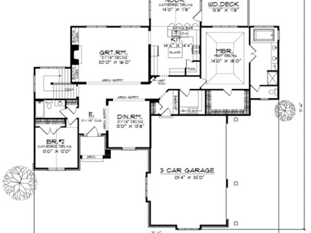 Desert house plans river view floor plans luxury bungalow for Luxury bungalow floor plans
