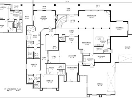 Hammerstrom Construction Floor Plans Royalty Free Stock