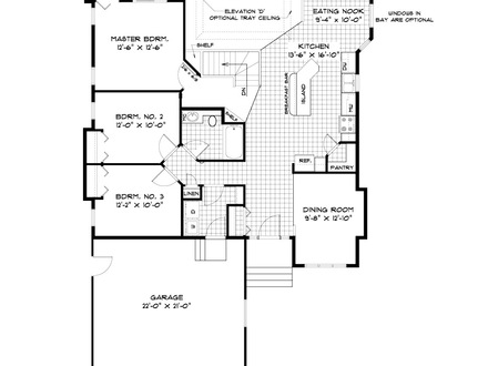 One story bungalow house plans one story bungalow house for Craftsman bungalow house plans 1930s