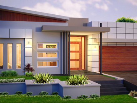 Single Story Contemporary House Single Story Modern House Designs