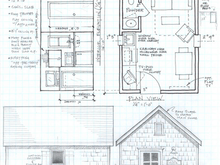 Rustic cabin plans small cabin plans with loft cabin for Lake cabin floor plans with loft