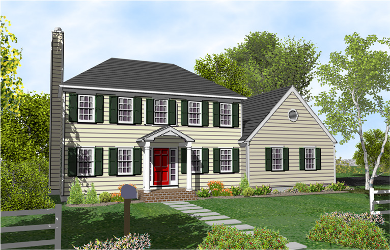 Story Colonial House Plans One Homes Hip