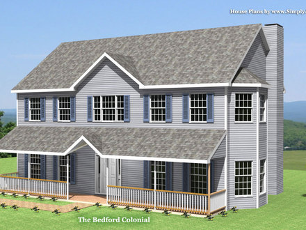 Colonial house for Colonial house addition