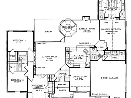 one story log home floor plans one story brick ranch house plans one level ranch style 27327