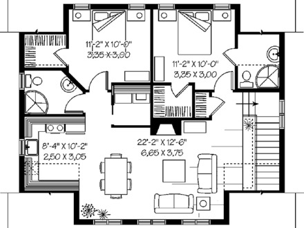 Prefab garage with apartment plans garage with apartment for Garage with two bedroom apartment plans