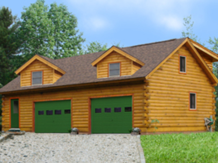Log Home Plans with Garages Log Cabin Garage with Apartment
