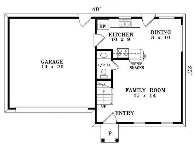 Simple Small House Floor Plans 2 Bedrooms Simple Small House Floor Plans