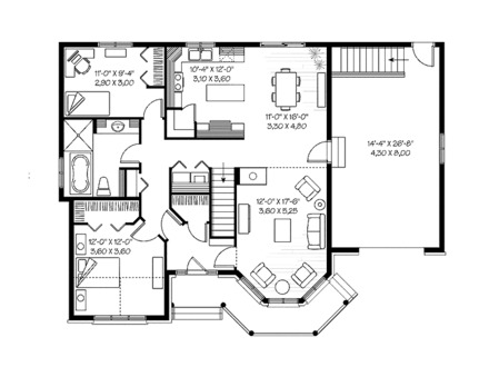 Small Homes and Cottages Small Country Home Floor Plans