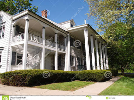 Large Front Porch Large Home With Front Porch With Columns Royalty Free Stock Photos