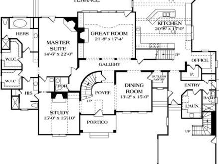 French country luxury home floor plan luxury tudor homes for French country tudor house plans