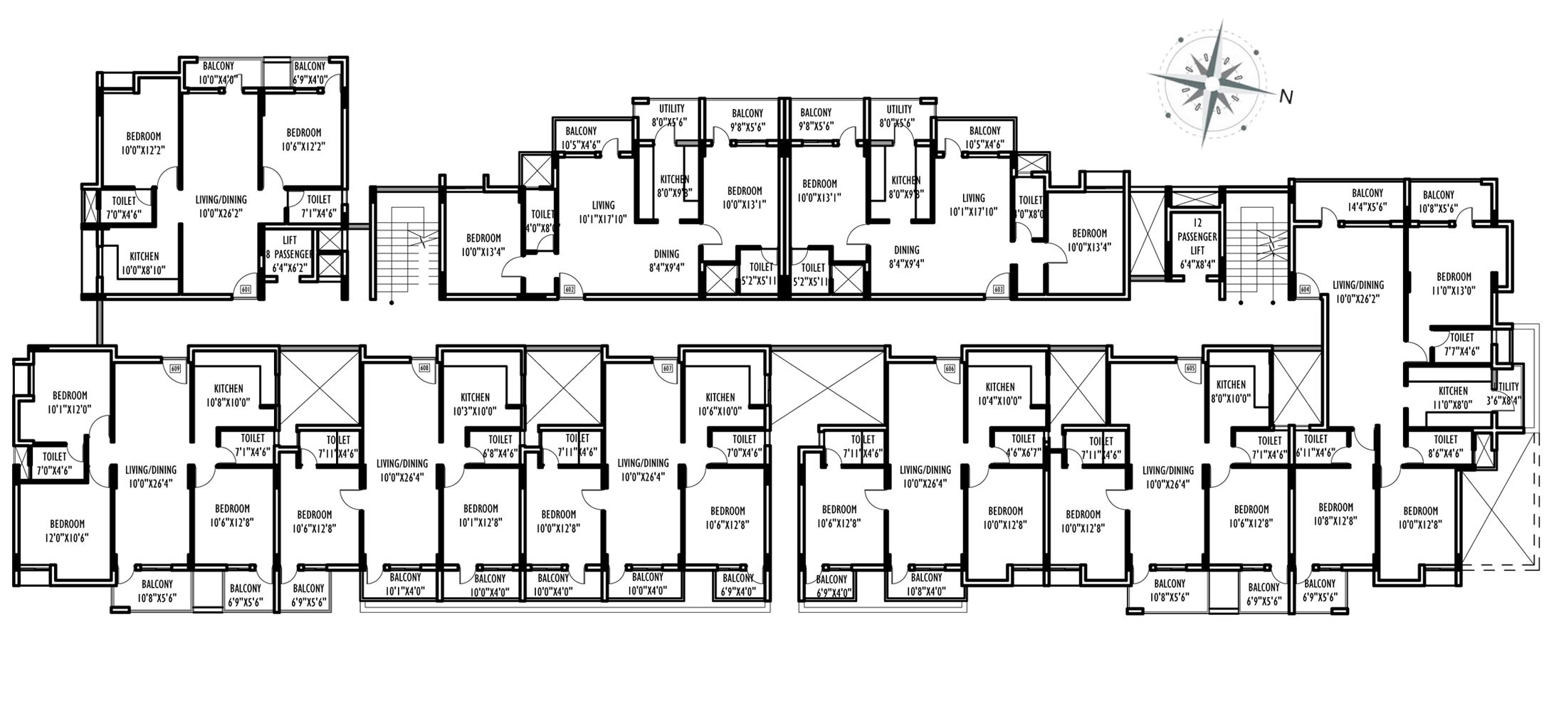 Multi family compound house plans family compound floor for 2 family house plans