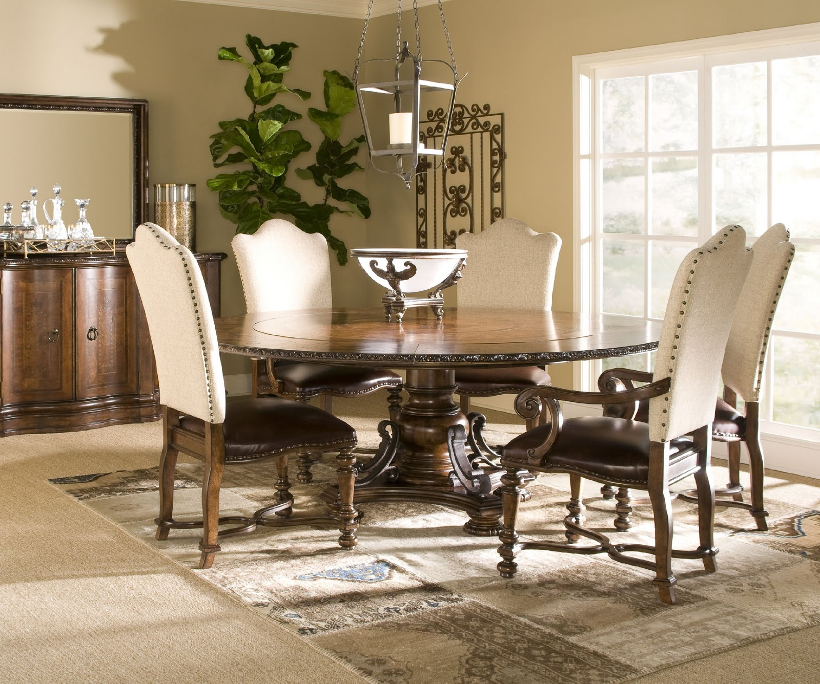 Mediterranean Style Dining Room Sets: Upholstered Dining Room Table And Chairs Dining Room