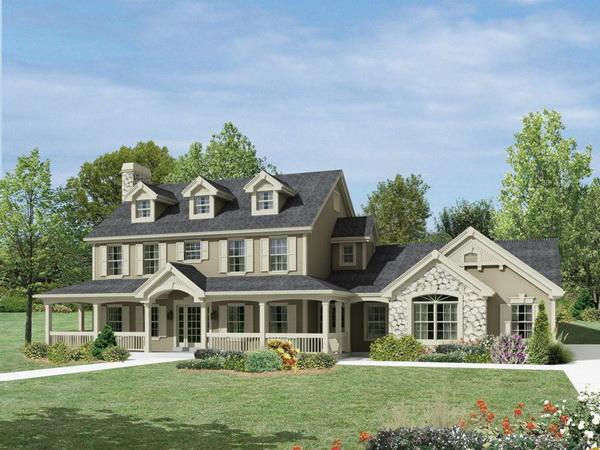 Colonial House Plans with Open Floor Plans Colonial House Plans with Wrap around Porches