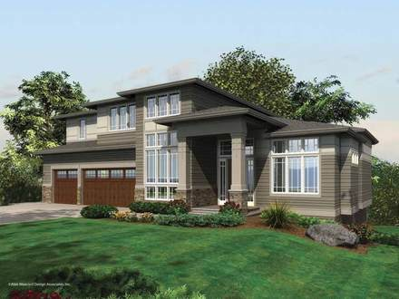 Contemporary Prairie Style Home Plans Country Style Homes