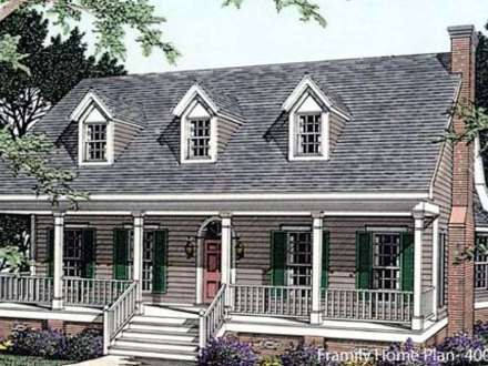 Medium one story houses simple one story house floor plans for Open house plans with porches