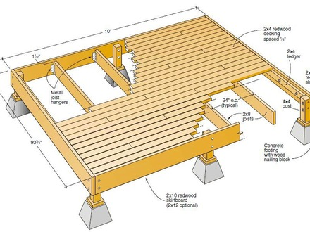 Diy ground level deck 2 level deck plans deck plan Wood deck designs free