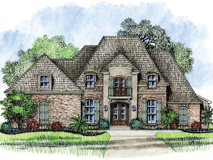 Traditional french style home french architecture homes for Louisiana french country house plans