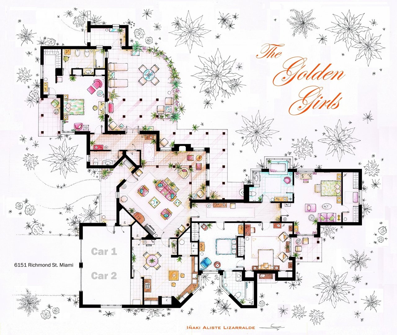 Golden Girls House Floor Plan Golden Girls House Interior