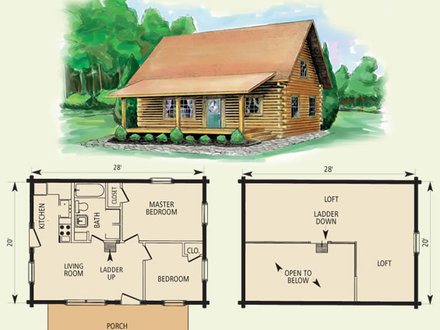 Small Log Cabin Homes Floor Plans Small Cabins and Cottages