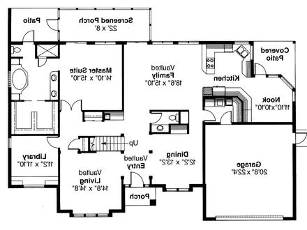 Small Mediterranean House Plans Mediterranean House Plan San Antonio 11 053 1st Floor Plan