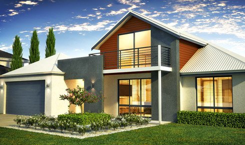 Homes with front balconies beautiful homes with pools for Double storey house plans with balcony