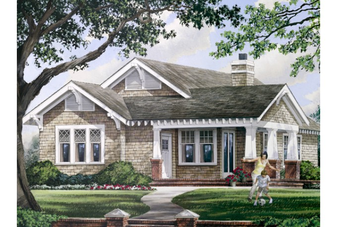 One Story House Plans with Porches Simple One Story Floor Plans