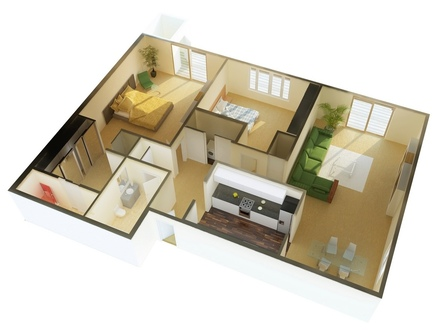 2 Bedroom House Plans Designs Small House Plans 3 Bedrooms