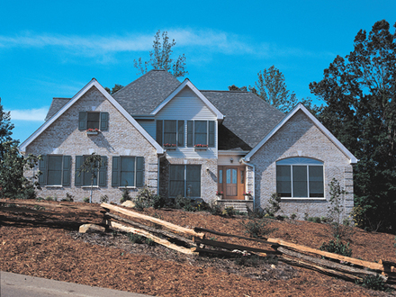 Downward Sloping Lot House Plans Sloping Lot House Plan