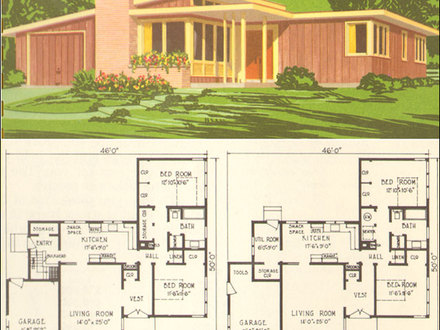 Photo gallery exterior house colors exterior house paint for Mid century ranch home plans