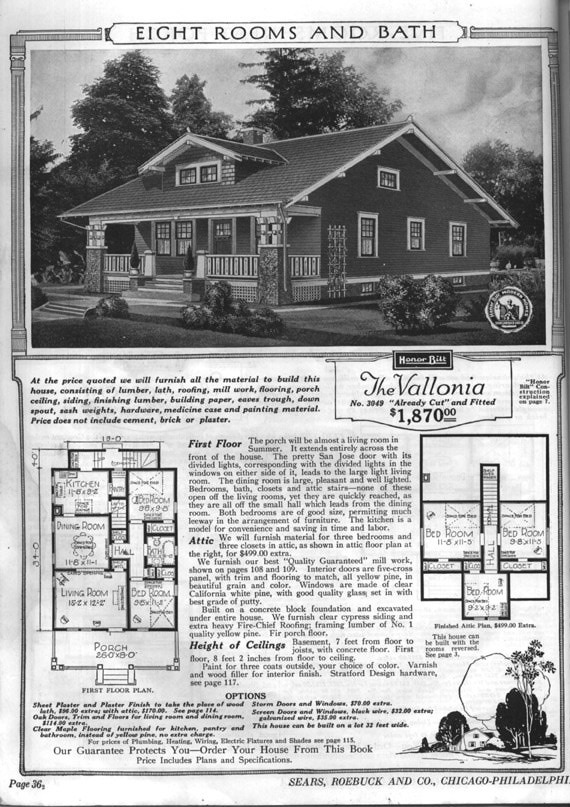 Vallonia Sears House Plans Valonia Barrington Bungalow