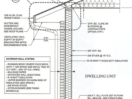 Wall Section Detail Drawing Typical Wall Section Detail
