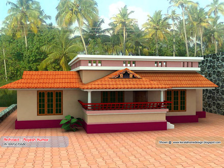 Kerala small house plans under 1000 sq ft single floor for Kerala model house plans 1000 sq ft