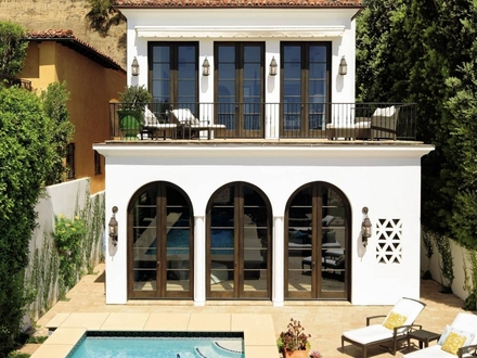 Modern Spanish Colonial Terrace Modern Spanish Colonial Style Homes