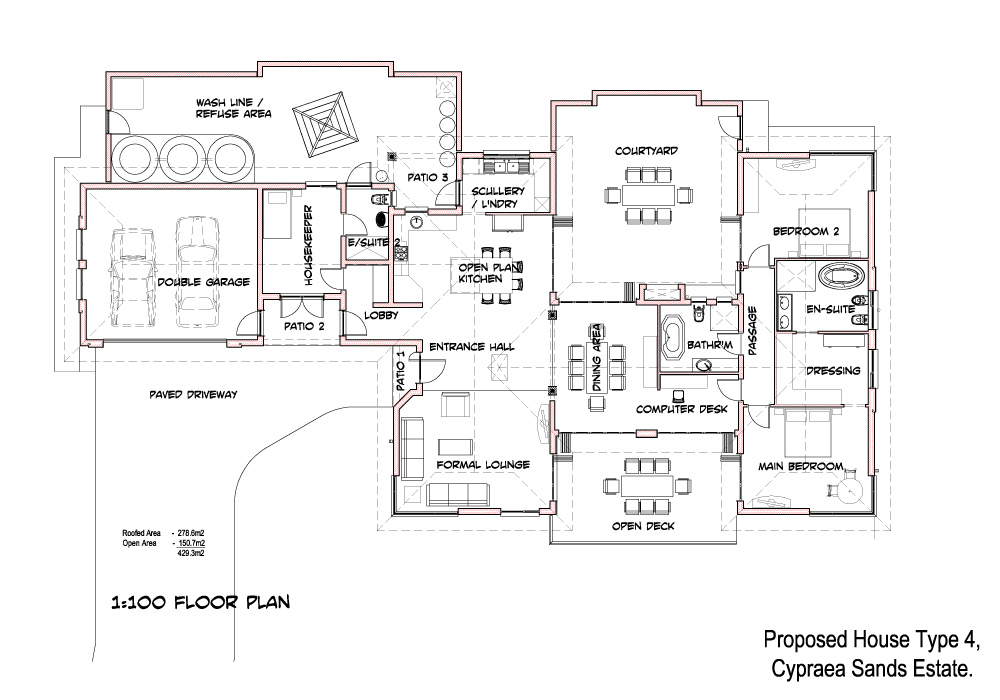 2 Bedroom House Simple Plan Basic Simple House Plans