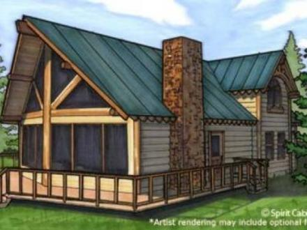 Log cabin kits 50 off log cabin kits 2 story log homes for Two story log cabin kits