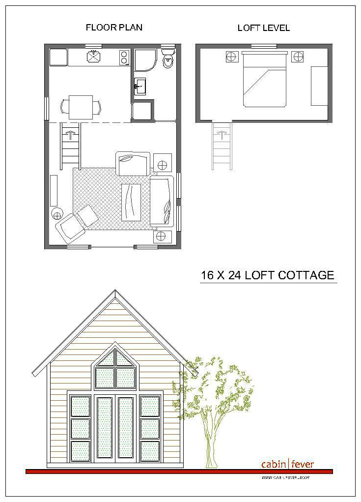 12x24 cabin plans 16x24 cabin plans with loft small cabin for Cabin blueprints free