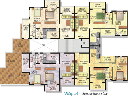 Sample floor plans with dimensions sample floor plans with for Residential building drawings download