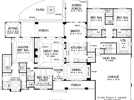Birchwood Floor Plan Birchwood Floor Plan with Angled Stairs