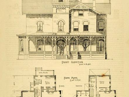 Tiny Victorian Houses Vintage Victorian House Floor Plans
