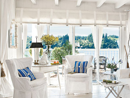 Beach Cottage Style White Beach Cottage Living Room