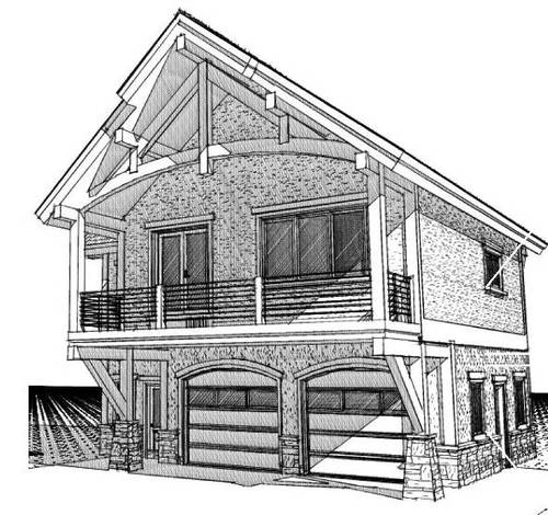 Cabin with Garage Underneath Cabin Garage with Living Quarters Plans