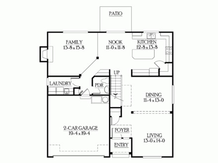 House Plans with No Wasted Space Traditional House Plans