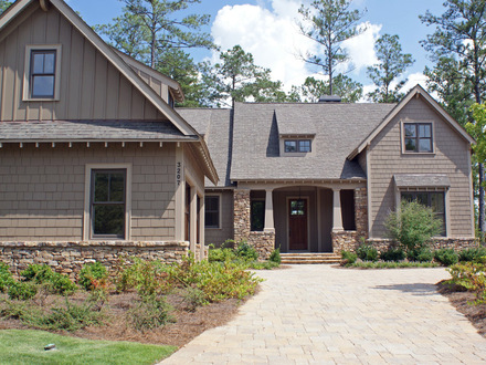 New craftsman style home new ranch homes craftsman style for Craftsman style homes atlanta