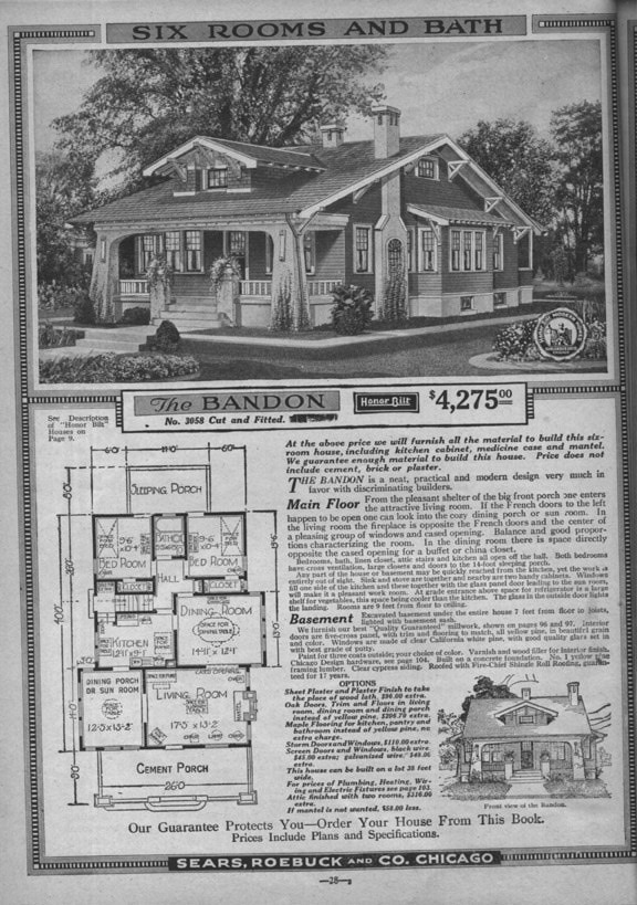 Sears Craftsman Bungalow House Plans 1920s Craftsman