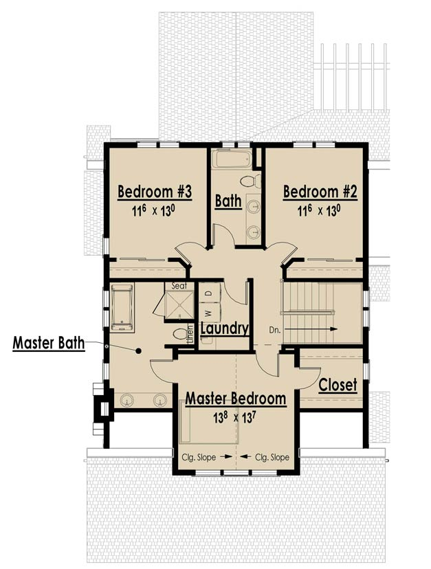 Simple One Storey House Design: Single Story Open Floor Plans Bungalow Floor Plans Without