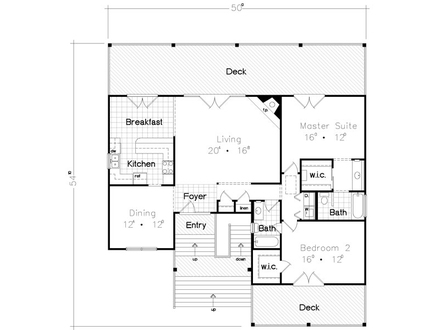 Beach Bungalow House Floor Plan Cottages and Bungalows